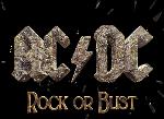 ROCK OR BUST - PNG, 150x109 pixels, 21.5 KB