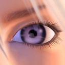 Ojo violeta - JPEG, 128x128 pixels, 18.7 KB